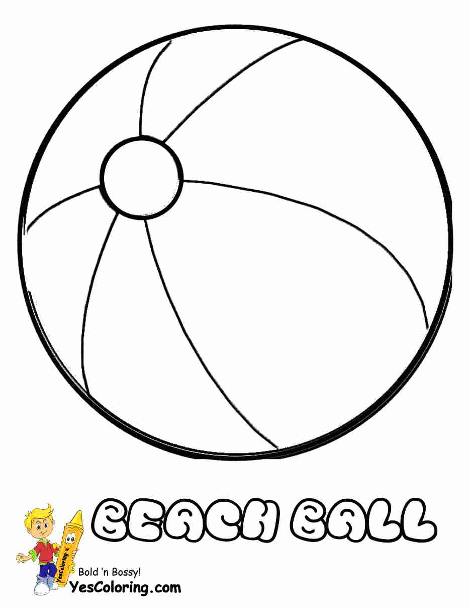 935x1210 Beach Ball Coloring Pages Page With Remarkable Printable Ripping
