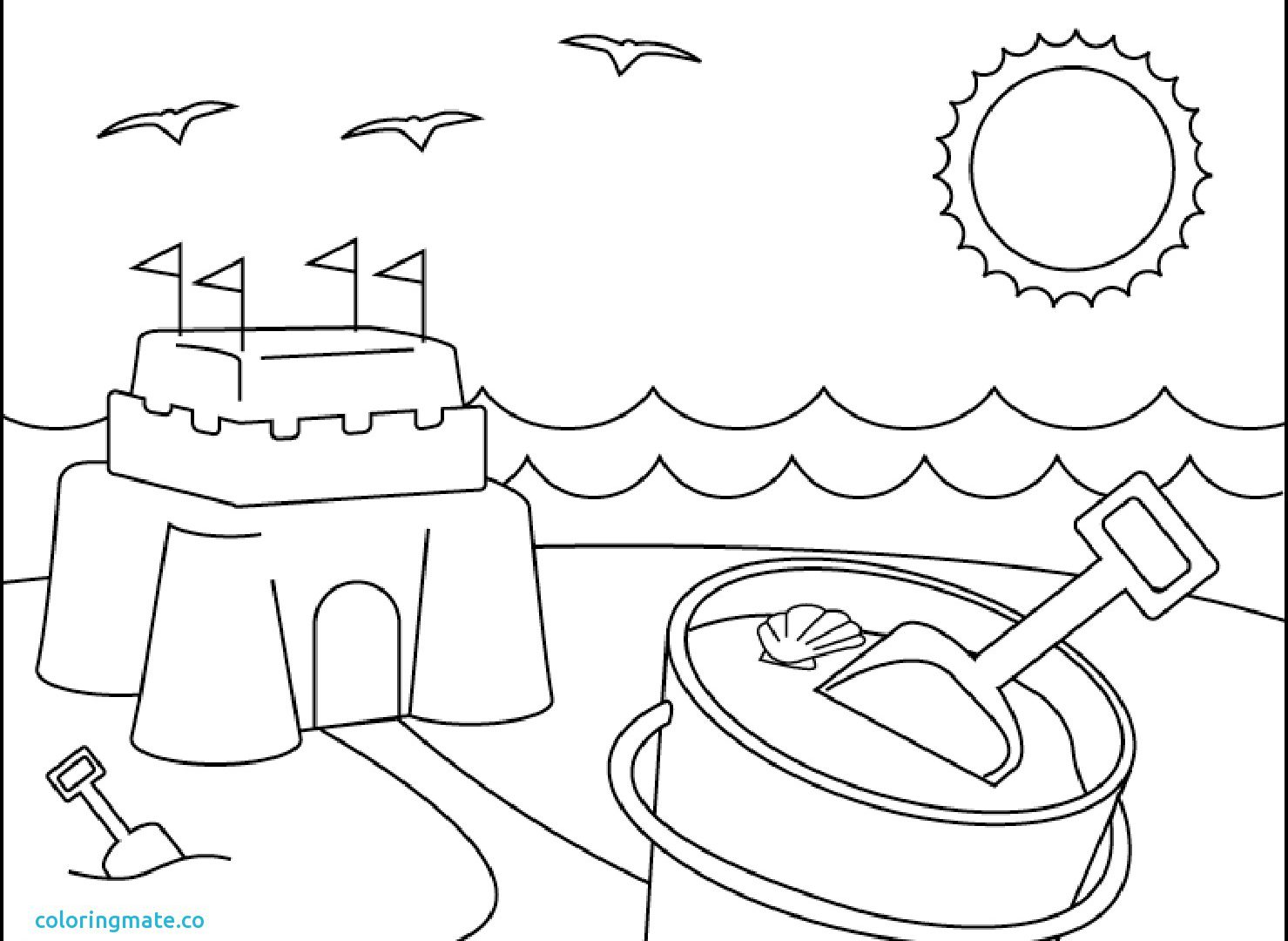 1479x1080 Childrens Coloring Pages Beach Ball Free Umbrella Preschool Themed