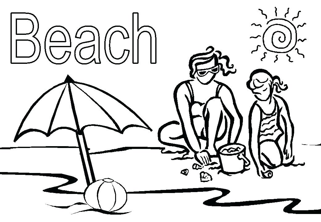 1040x720 Coloring Page Beach Beach Ball Coloring Pages Printable Big Free