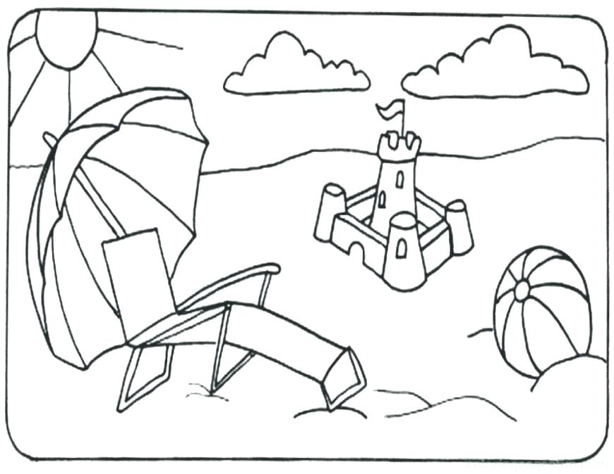 870x672 Coloring Pages Beach Beach Coloring Page Beach Coloring Pages Free