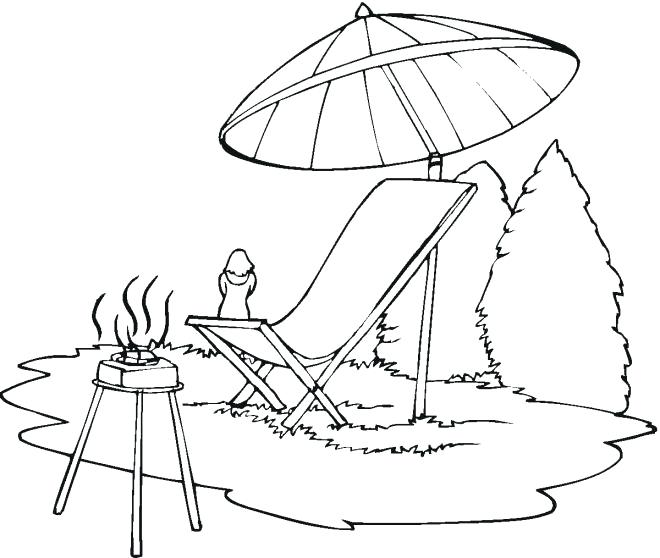 660x558 Beach Umbrella Coloring Page Lounge Chair Beach Umbrella Coloring