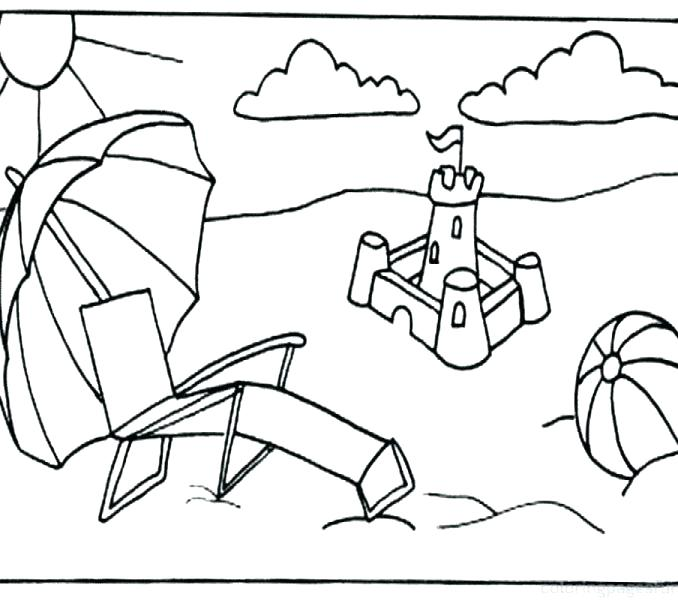 678x600 Coloring Page Beach Coloring Pages Beach Scenes Free Colouring