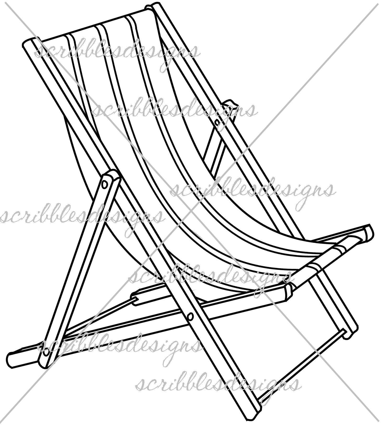 1593x1776 Beach Chair Coloring Sheet Coloring Sheets