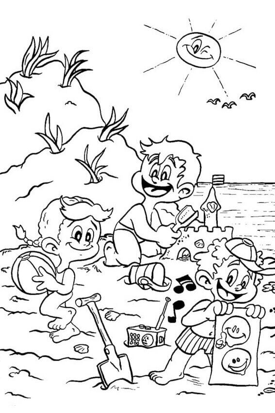 567x850 Free Printable Beach Coloring Pages