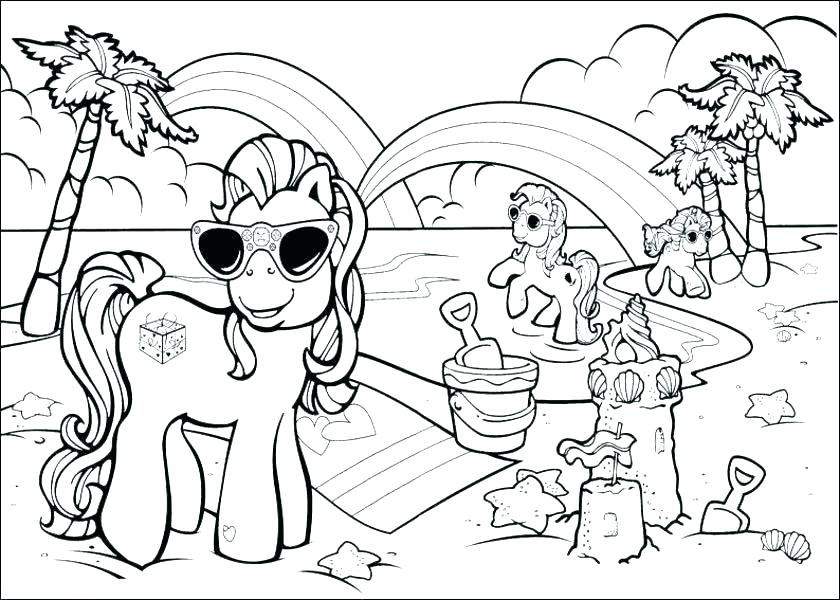 840x600 Beach Coloring Pages Ball Page Free Bea