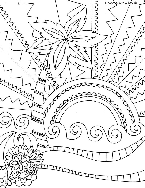 618x800 Beach Coloring Pages