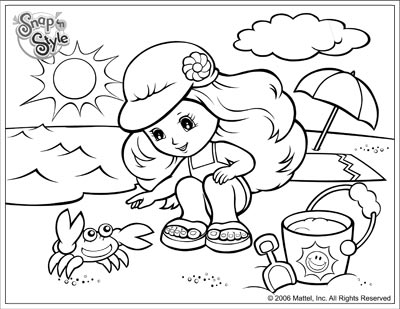 400x309 Beach Scene For Coloring Pages Kids