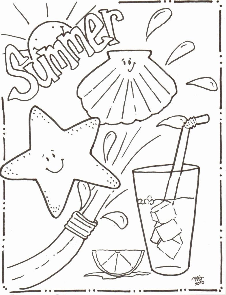 783x1024 Beach Coloring Pages Printable Coloring Page