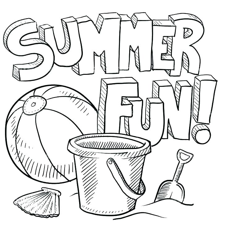 728x728 Free Summer Coloring Pages Summer Coloring Pages Printable Free