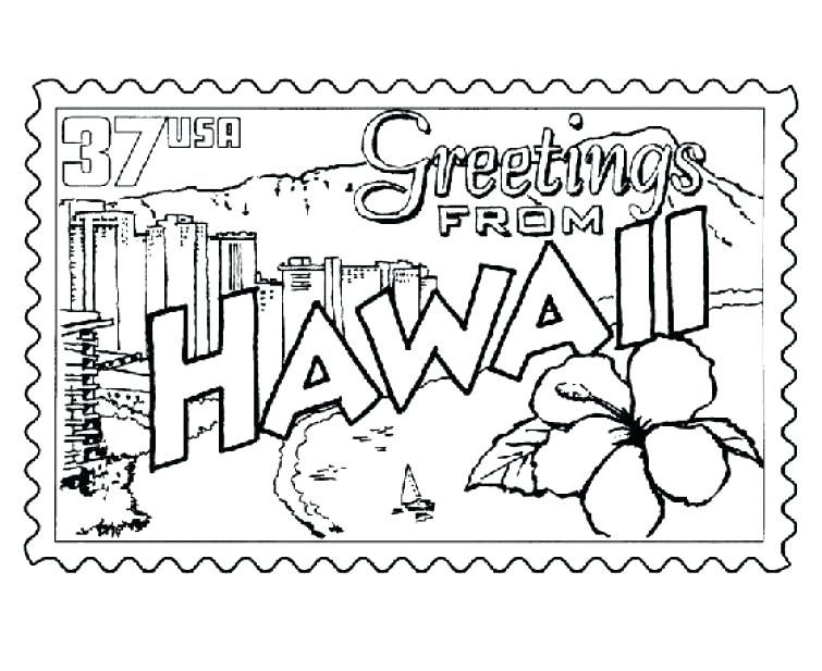 755x617 Hawaiian Coloring Pages Coloring Page Stamp Printable Coloring
