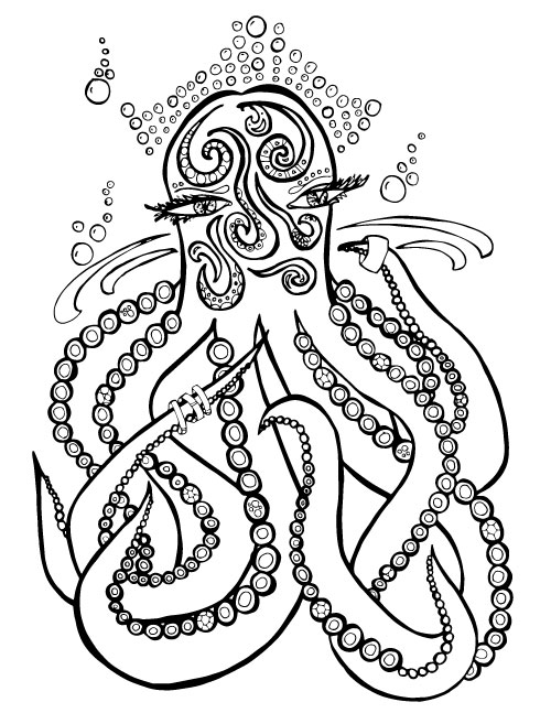 500x647 Ocean Coloring Pages For Adults