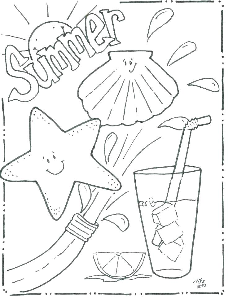 736x962 At The Beach Coloring Pages Return To All Coloring Pages Beach