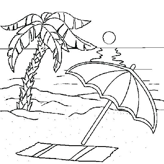 550x550 Beach Coloring Page