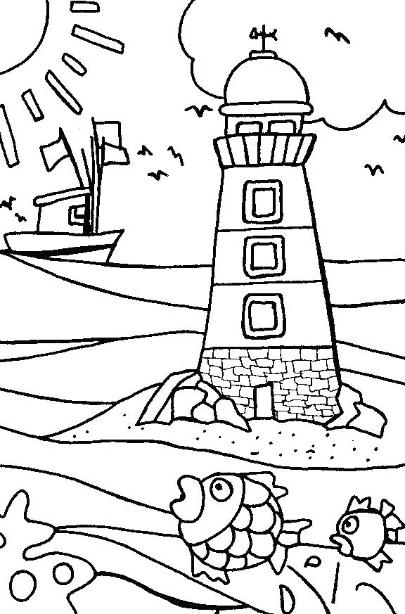 576x873 Beach Coloring Page Coloring Page Beach Free Beach Coloring Pages