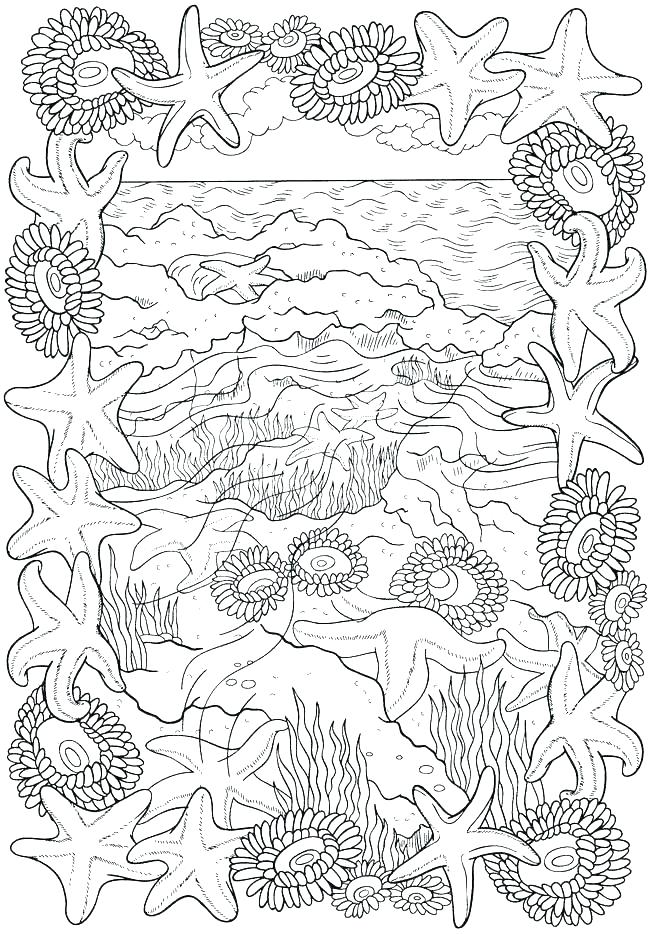 650x934 Beach Coloring Page Coloring Pages Beach Scene Of Toys Free