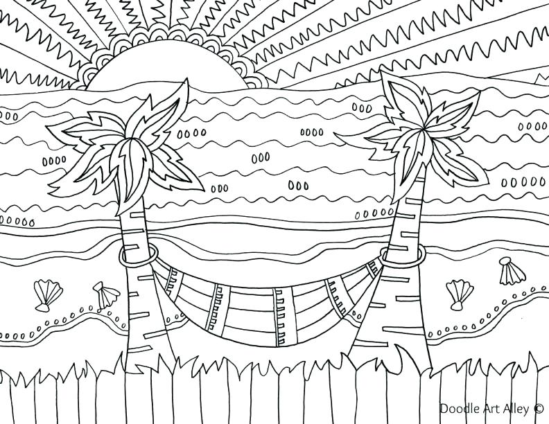 792x612 Beach Coloring Pages Summer Beach Coloring Page Pic Summer