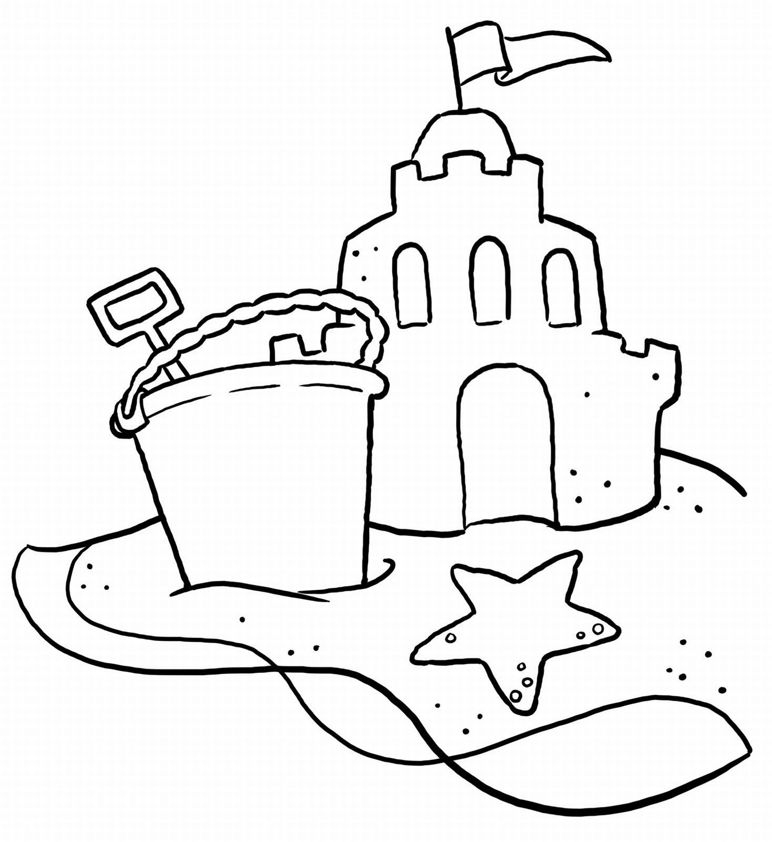 1541x1680 Beach Scene Coloring Pages