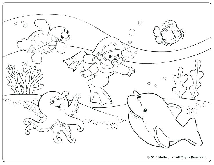 736x568 Free Summer Coloring Pages For Preschoolers Printable Beach