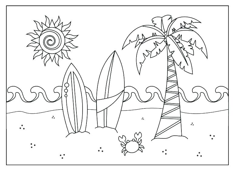 768x558 Beach Coloring Pages Barista
