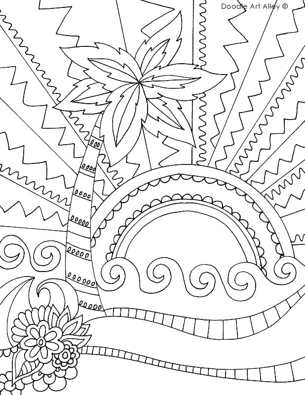 618x800 Printable Beach Coloring Pages