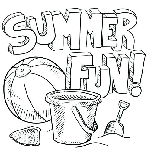 500x500 Beach Coloring Page Cool Pictures To Color Scene Printable Pages