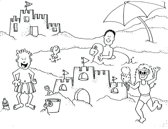 570x440 Coloring Page Beach Beach Coloring Pages For Kids Beach Party