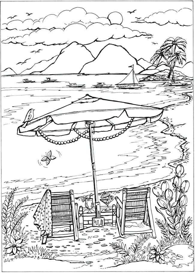 650x909 Coloring Page Beach Free Printable Beach Coloring Page Or Sheet