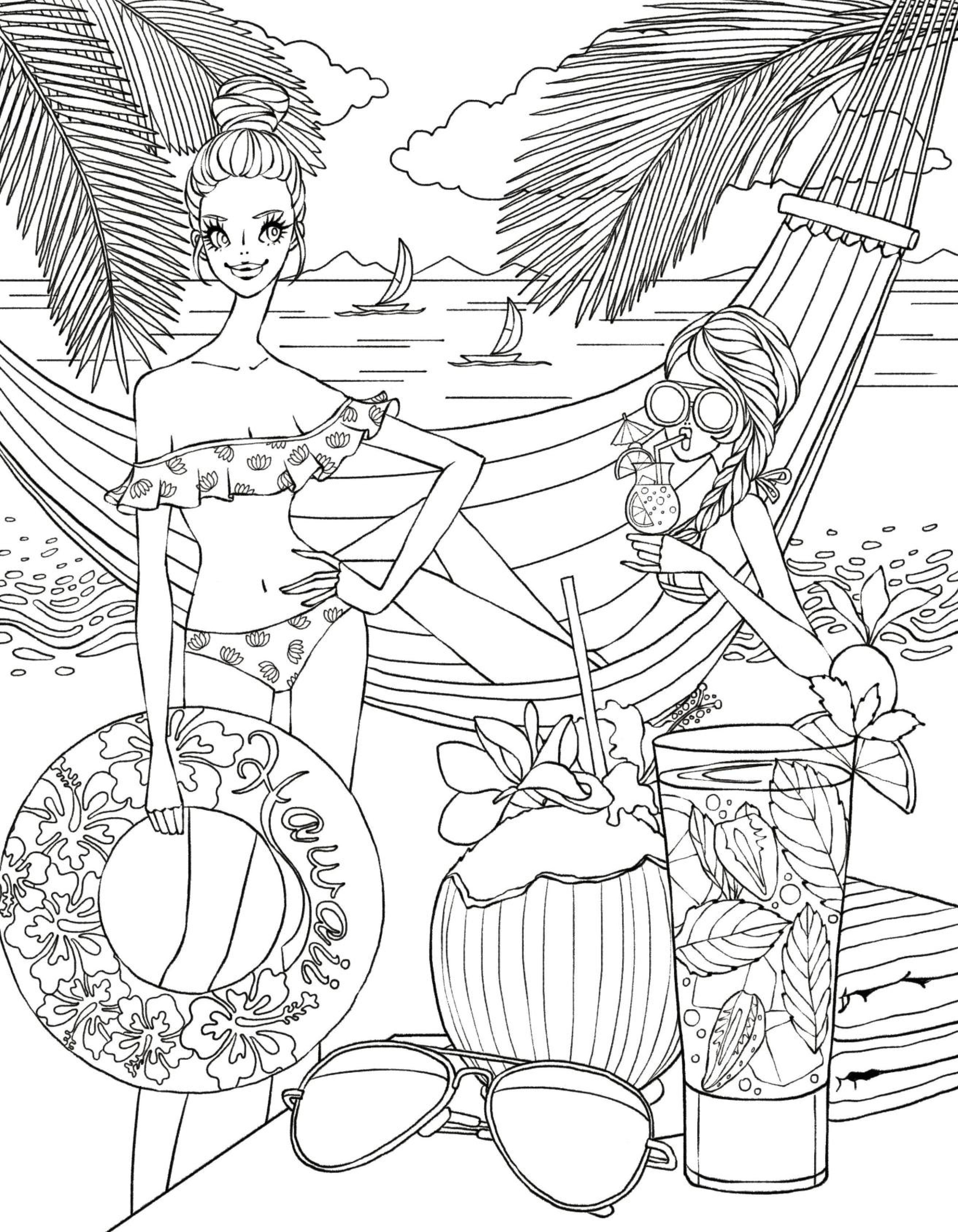 2625x3375 Cool Beach Side Coloring Page Free Coloring Pages Download