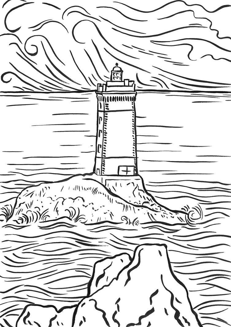 753x1062 Beach House Coloring Pages