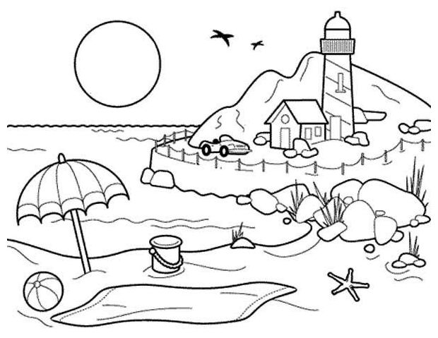 620x479 Beach House Coloring Pages