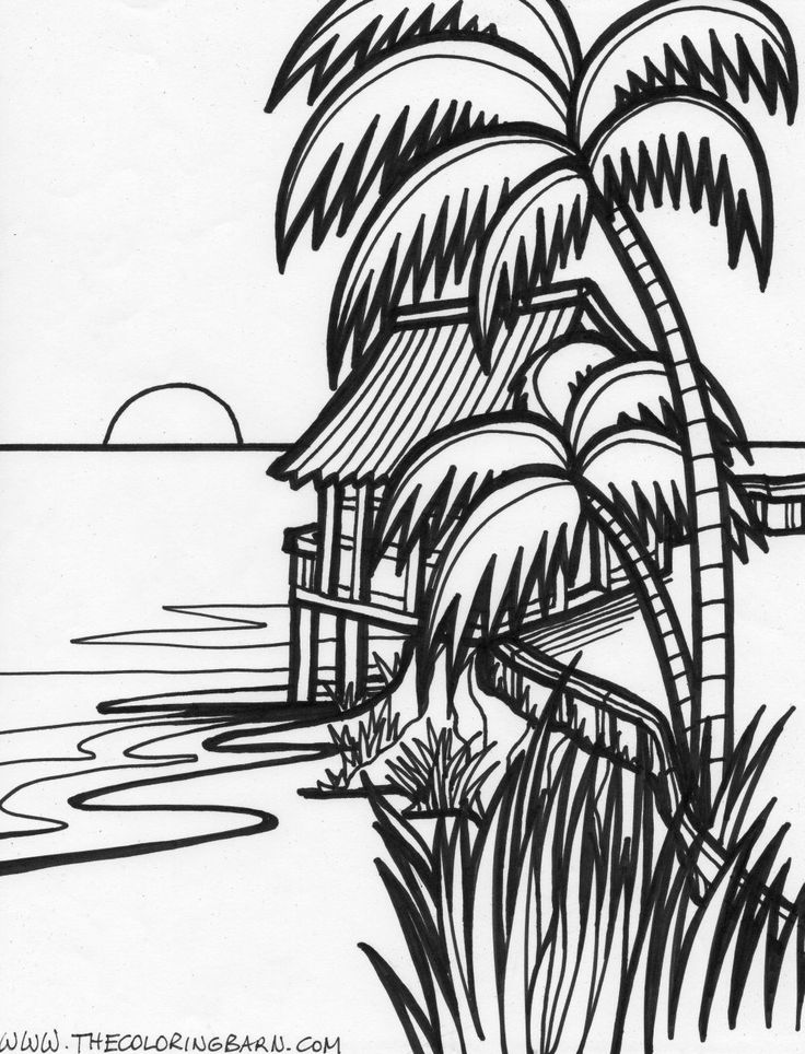 736x964 Beach House Coloring Pages Color Bros