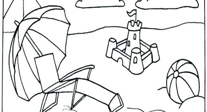 728x393 Beach Scene Coloring Page Beach Items Coloring Pages Printable