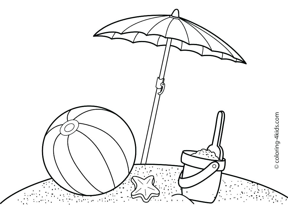 974x695 Beach Scene Coloring Pages Printable Coloring Beach Scene Coloring