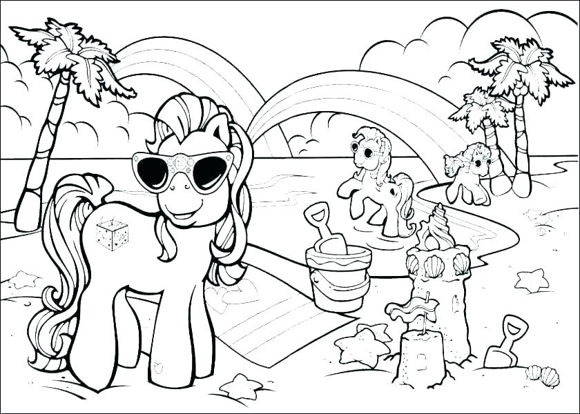 Beach Items Coloring Pages At Getdrawings Com Free For Personal