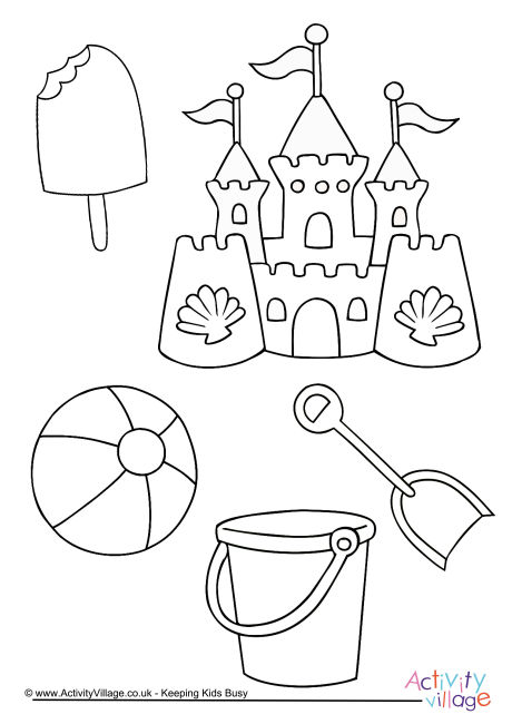 460x650 Summer Colouring Pages