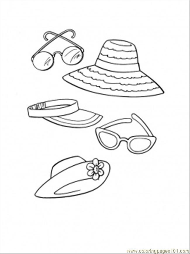 650x868 Beach Accessories Coloring Page
