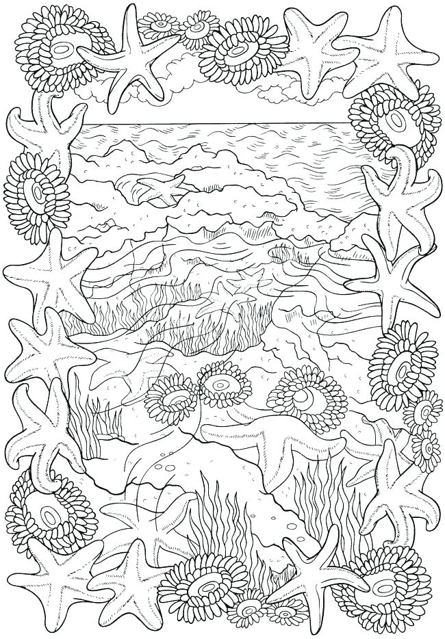 650x934 Beach Coloring Page Landscapes Beach Landscapes With Lighthouse