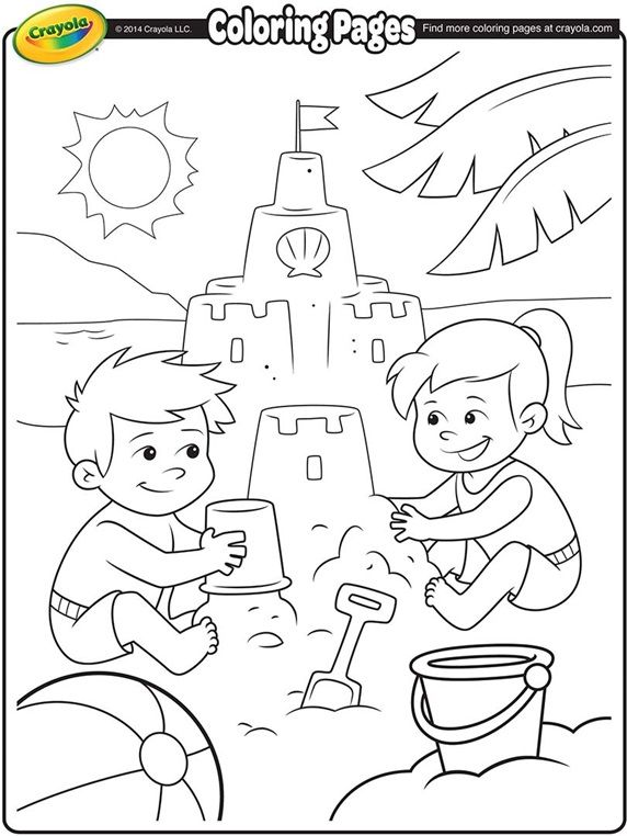 Beach Party Coloring Pages