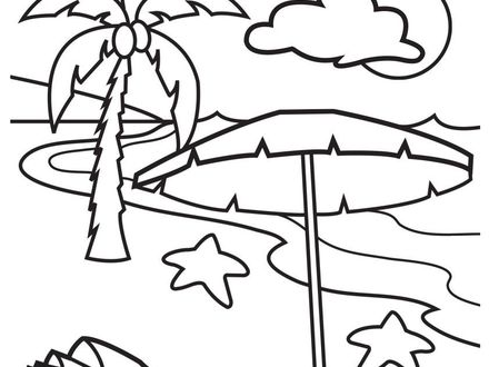 440x330 Coloring Pages Of Beach Scenes, Free, Printable Summer