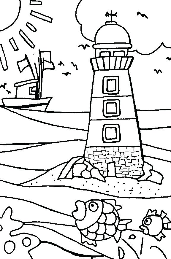 576x873 Beach Scene Coloring Page Sumptuous Coloring Pages Beach Free
