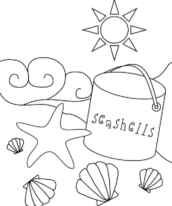 553x660 Beach Scene Coloring Pages Beach Sea Shell Coloring Page Coloring