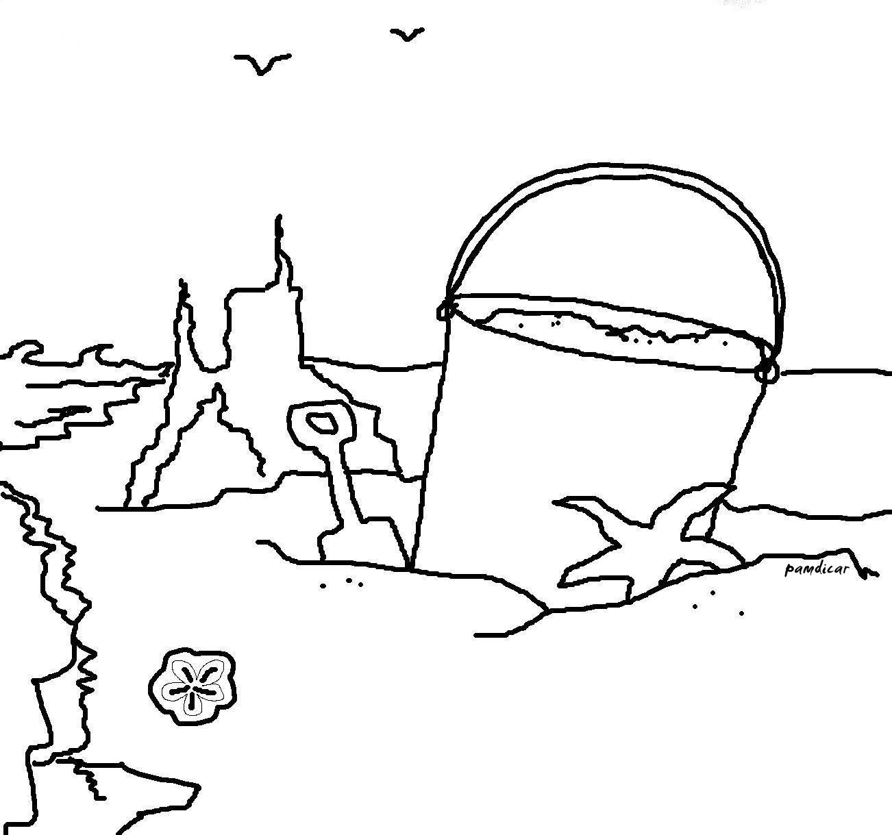 1302x1219 Beach Scene Coloring Pages Cool