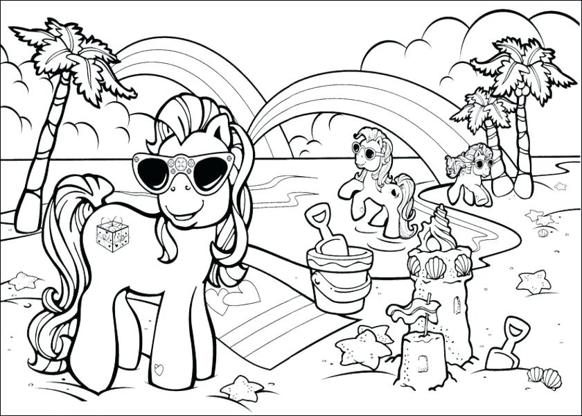 840x600 As Well As Beach Coloring Pages Beach Scene Coloring Pages