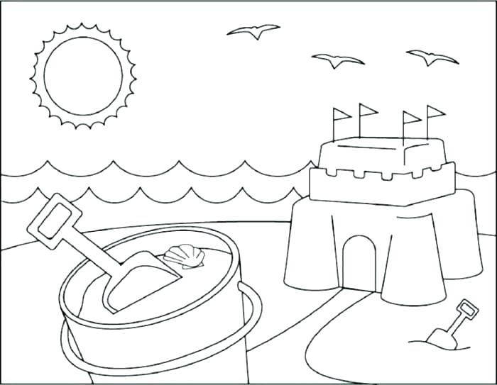 700x543 Beach Umbrella Coloring Page Beach Color Pages Beach Scene