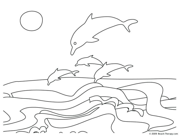 728x554 Ocean Scene Coloring Pages Ocean Scene Coloring Pages Beach Scene