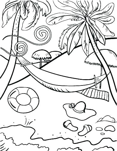 392x507 Beach Coloring Pages Coloring Pages Of The Beach Beach Coloring