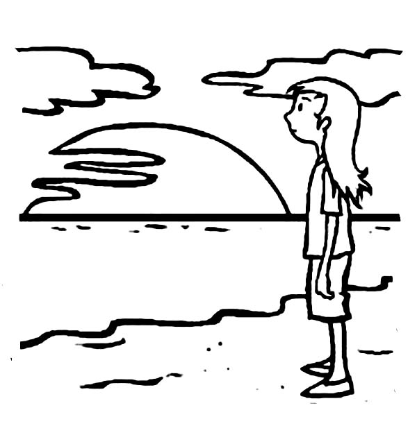 Beach Sunset Coloring Pages At Getdrawings Com Free For Personal