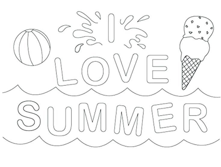 735x557 Beach Themed Coloring Pages Summer Coloring Worksheets Beach