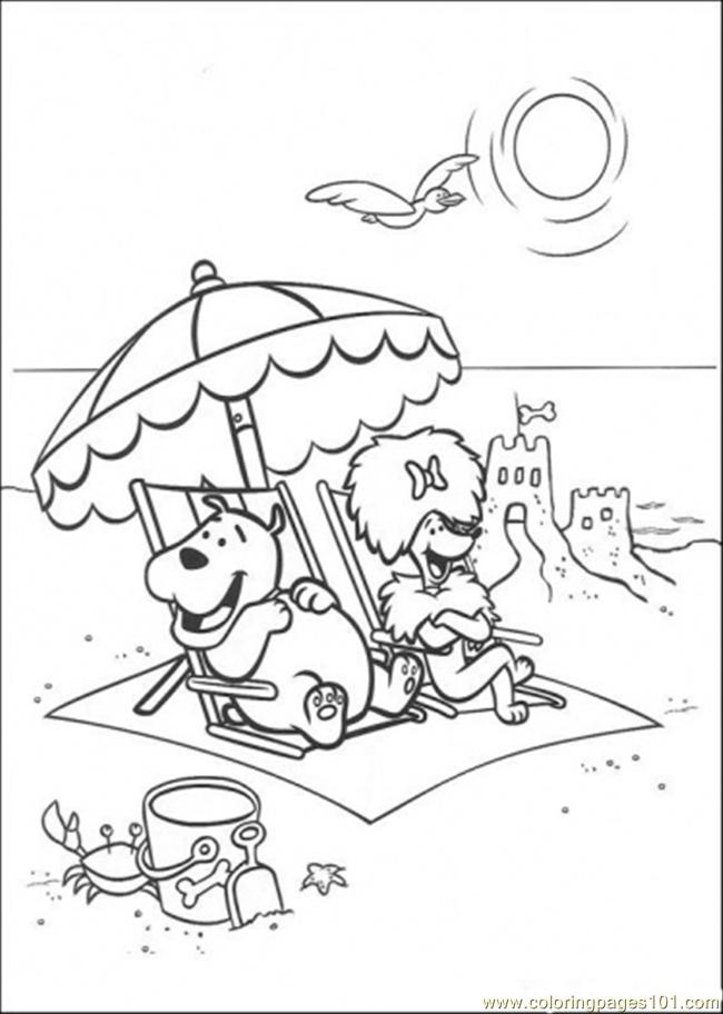 650x912 Cleo And Friends At The Beach Coloring Page