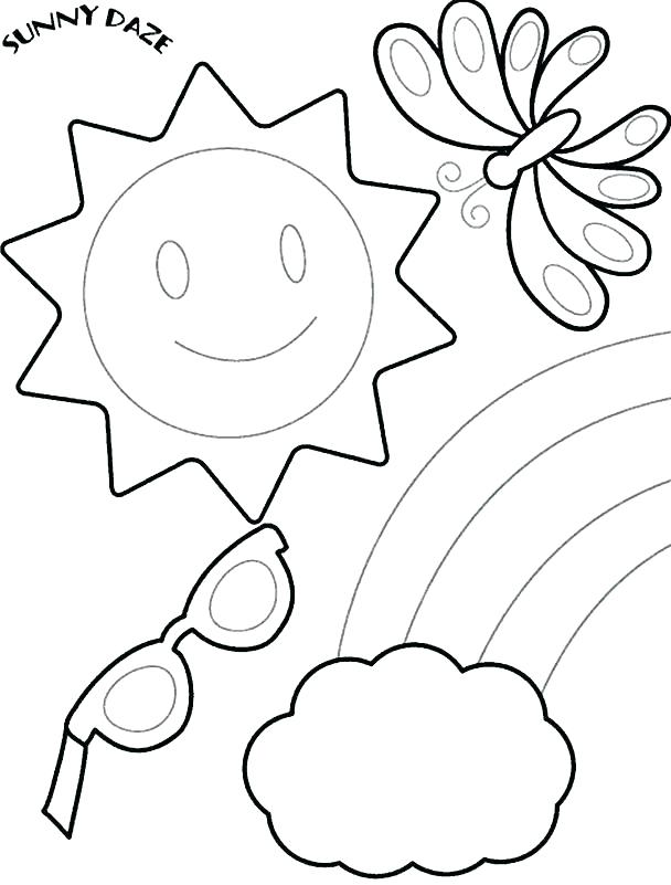 608x801 Coloring Pages Of The Beach Vacation Coloring Pages Beach Coloring